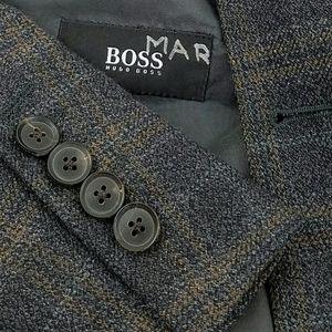 Hugo Boss Sport Coat Plaid 3 Btn Blazer Jacket 40R